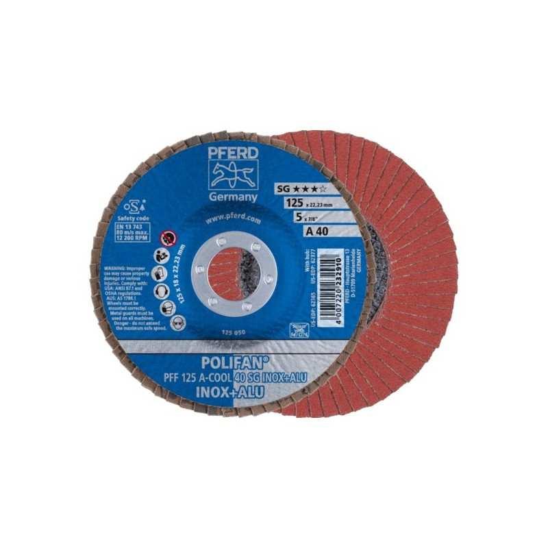 POLIFAN PFERD PFF 125 A-COOL 40 / SG INOX+ALU - 67654125 - 472223291 - 6,70€