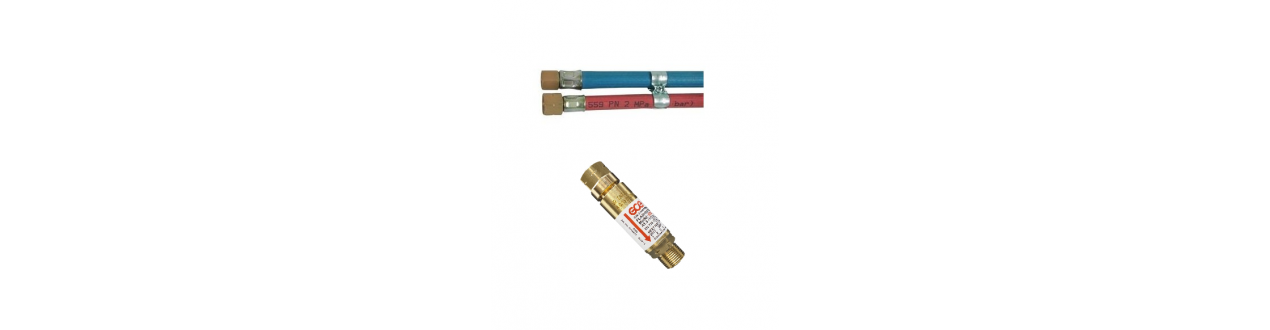 GCE Set Rückschlagsicherung Explosionsschutz Brenngas Acetylen Propan Sauerstoff