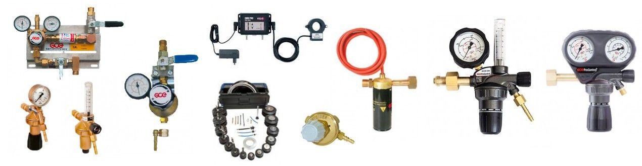 Druckminderer, Druckregler, Zentrale Gasversorgung für alle Gase