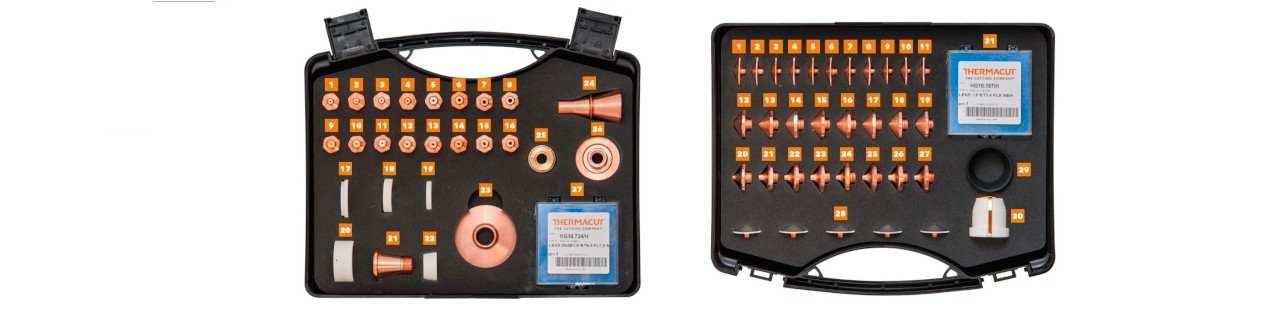 Laserschneiden Zubehör der Firma Thermacut und Precitec