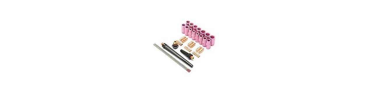 WIG Zubehör (Gasdüsen, Spannhülsen, etc), Kaltdrahtvorschub, Elektrodenschleifgerät