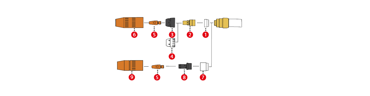 Fronius Verschleißteile für die MTW 250i / MTB 250i W ML Schweißbrenner