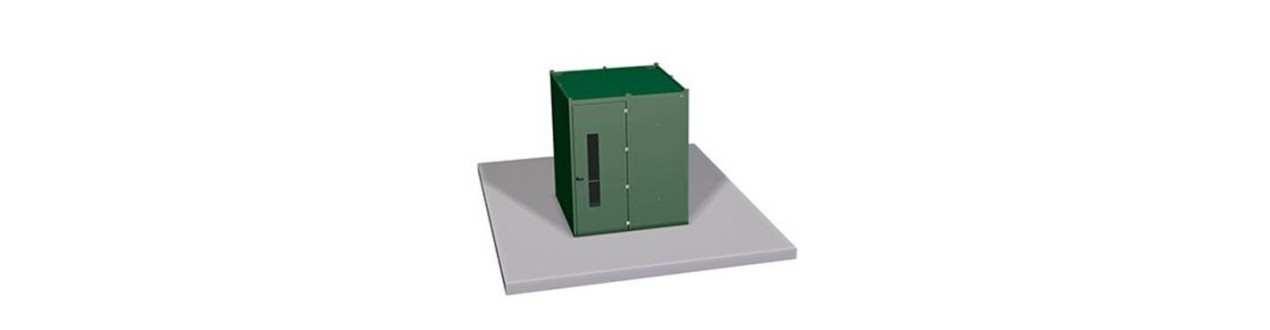 Schleifkabinen zum abschirmen von Lärm und Metallpartikel