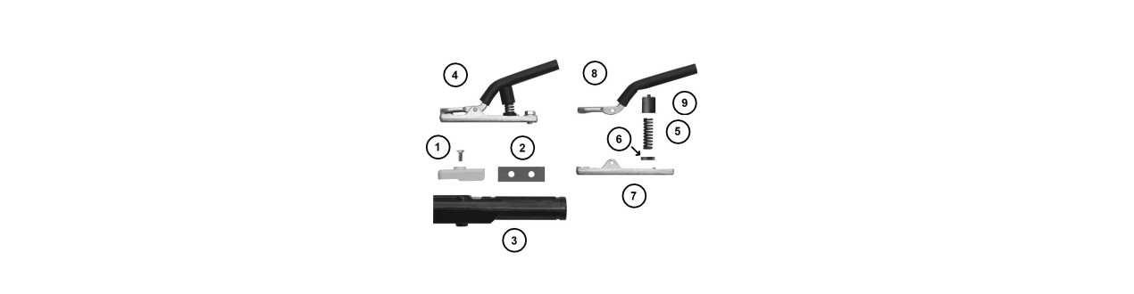 Ersatzteile Elektrodenhalter und Fugenhobel - Binzel