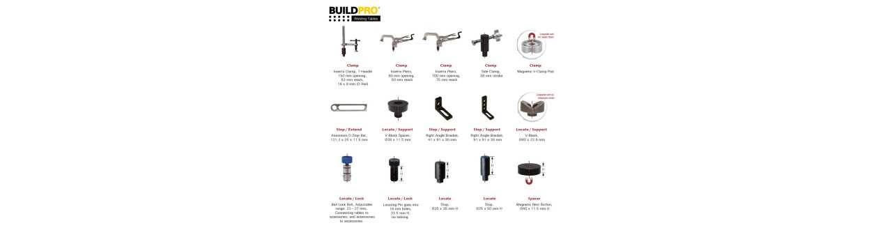 Zubehör für Schweisstische - Buildpro
