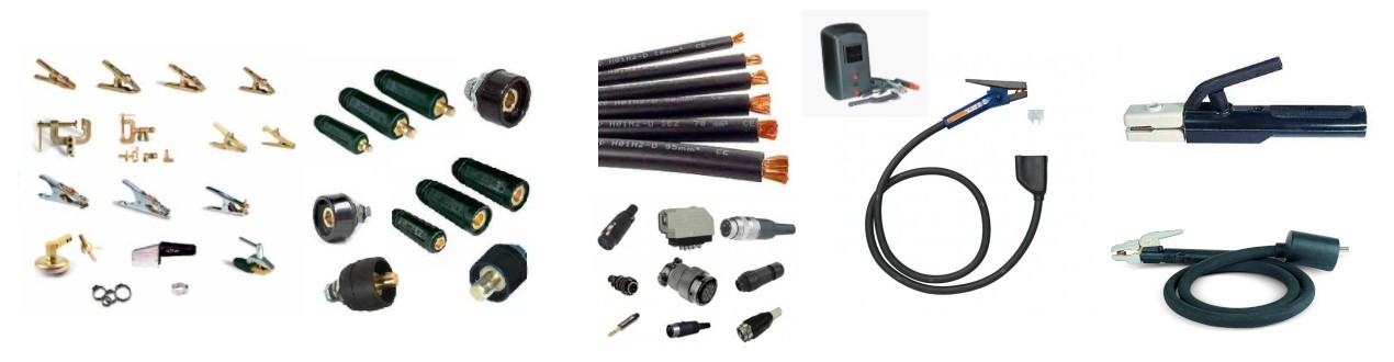 Schweißkabel, Elektrodenhalter, Fugenhobel, Masseklemmen, Massebuchsen -stecker