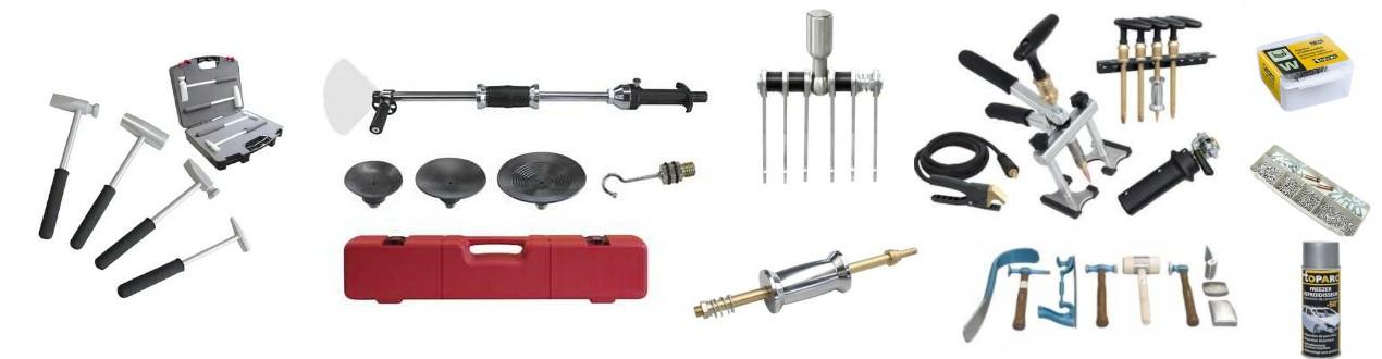 Karosseriezubehör - Ausbeul-, Hebe-, Niet-, Ziehwerkzeuge und Fahrwägen