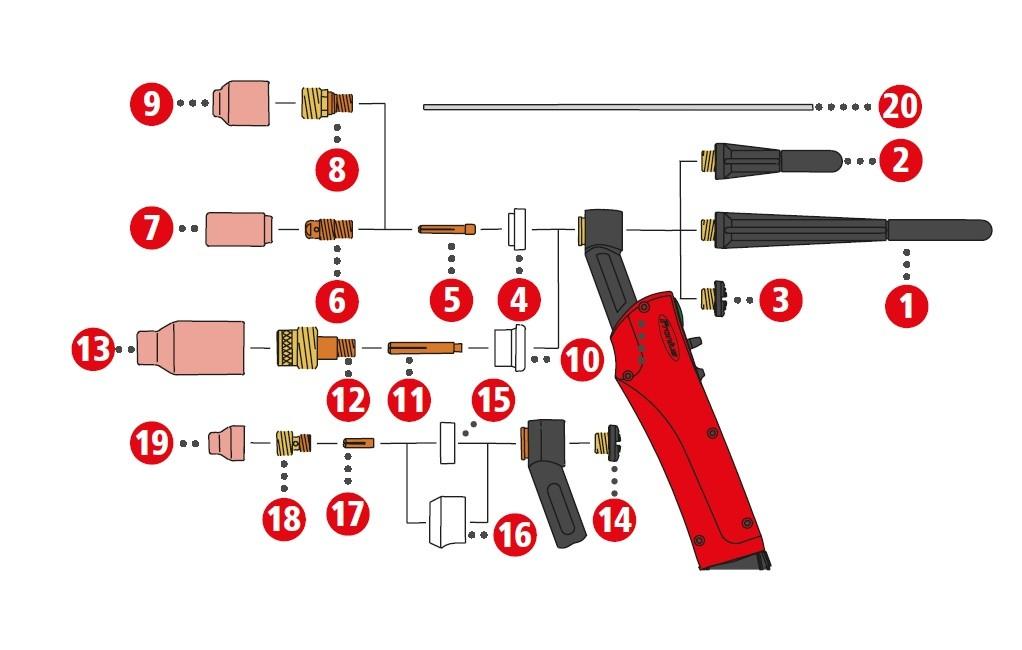 Verschleissteile für TTG1200P / TTG1600P / TTW2500P / TTW3000P