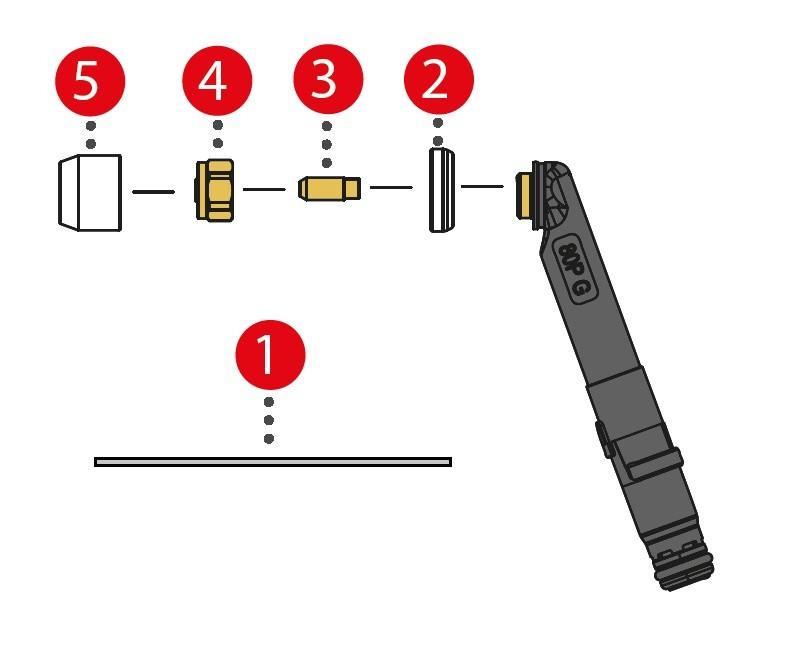 Verschleissteile für TTP80P G ML / TTW180P W ML (Multilock)